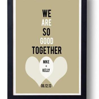 Kitchen Art Decor Anniversary Gift For Husband Wife We Are So Good Together On Luulla