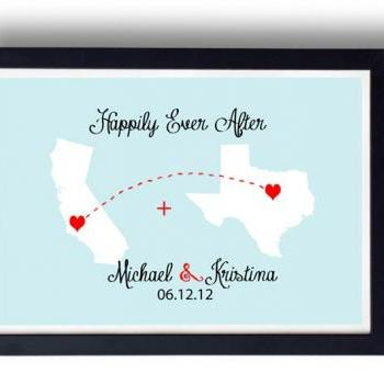 Kitchen Art, Kitchen decor, Anniversary gift for Husband, wife- Long Distance Relationship Gift ,World Map art